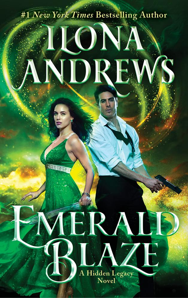 Emerald Blaze (Hidden Legacy #5) by Ilona Andrews book cover