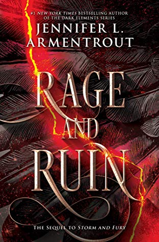 Rage and Ruin, The Harbinger, #2 (The Harbinger #2) by Jennifer L. Armentrout book cover